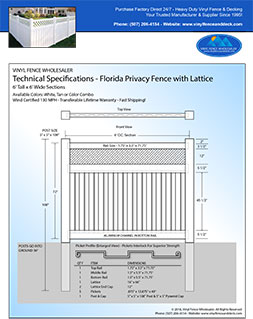 6 Foot Tall Florida Privacy Fence