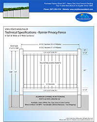 7' tall vinyl privacy fence