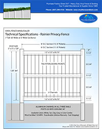 7 foot tall vinyl privacy fence