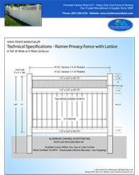 6 foot tall privacy fence