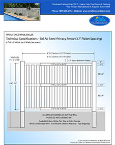 6' tall swimming pool fence