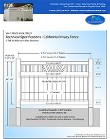 California Privacy Fence Panels
