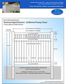 California Privacy Fences