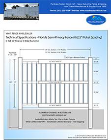 White Pool Fence Florida 4' Tall