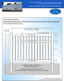 Orlando Pool Fence Semi Privacy Fence 3' Tall