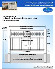 Illinois Privacy Fence 4' Tall