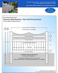 New York Privacy Fence