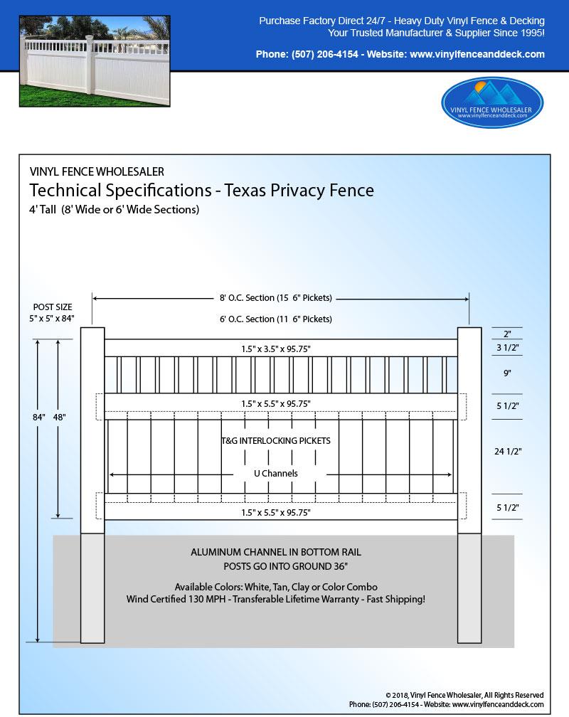 Texas Vinyl Fence