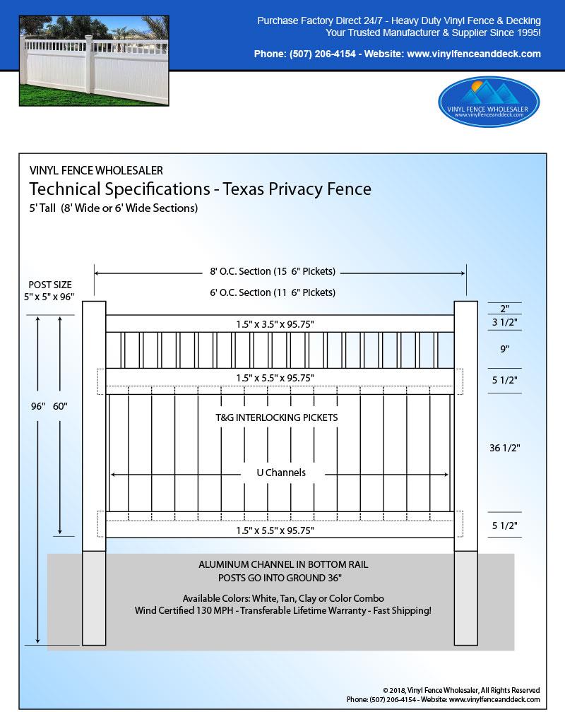 Texas Vinyl Fencing