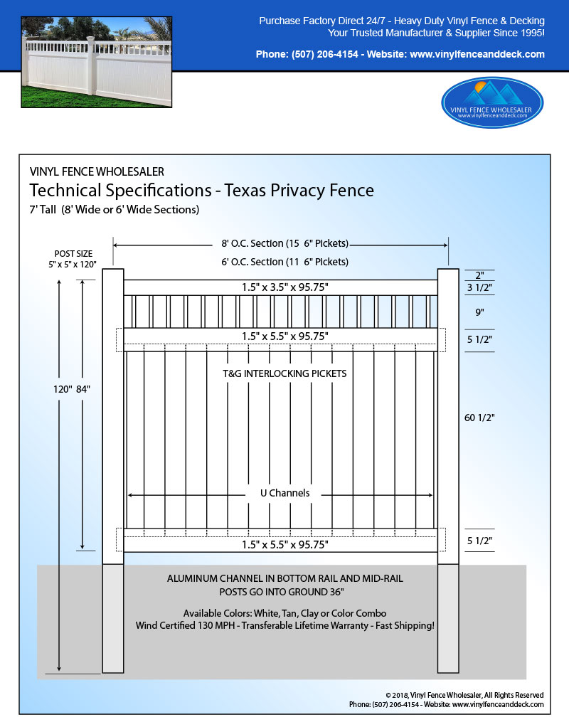 Texas Privacy Fences