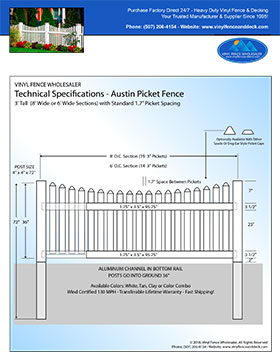 3' tall white privacy fence panel