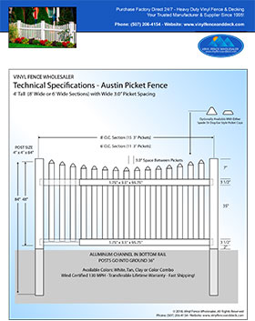 4' tall white privacy fence panel
