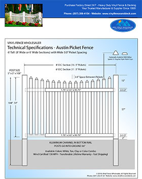 6' tall white privacy fence panel