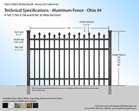 minnesota black aluminum fence