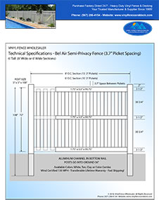6' tall bel air semi privacy fence and swimming pool fence