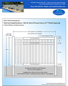 4' tall bel air semi privacy fence pool fence