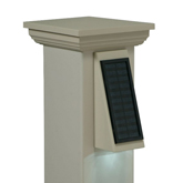 Solar powered sconce lighting