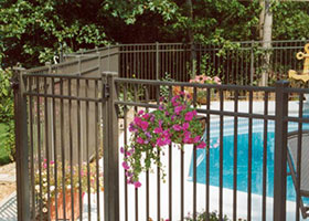 Black Aluminum Pool Fence image 9