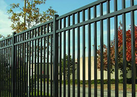 8' Tall Black Aluminum Fence