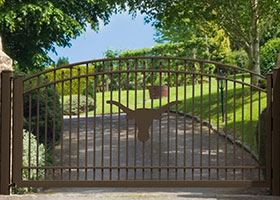 8' Tall Bronze Aluminum Gate