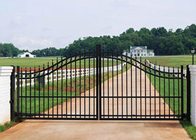 6' Tall Double Gate Black Aluminum