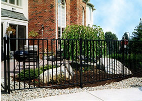 Heavy Duty Black Aluminum Fence