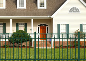 Forest Green Aluminum Fence