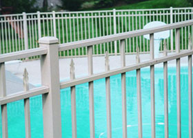 6' Tall White Aluminum Pool Fence
