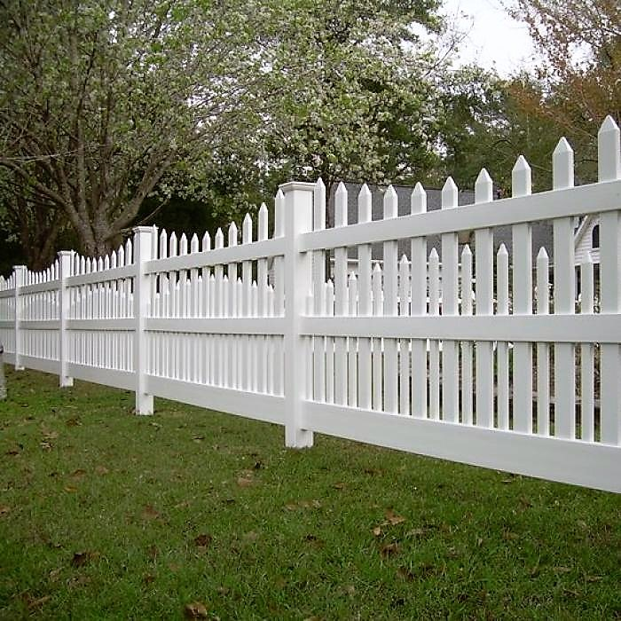 The Denver style double picket fence