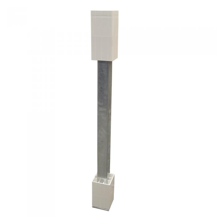 Railing concrete post mount