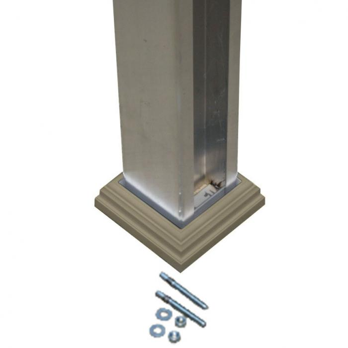 Clay concrete post mount kit for vinyl post