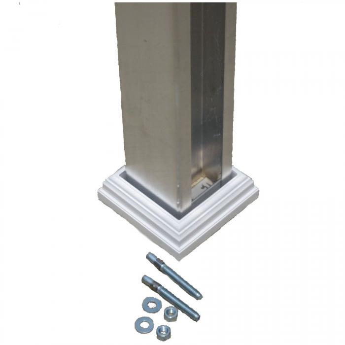concrete post mount kit for vinyl post