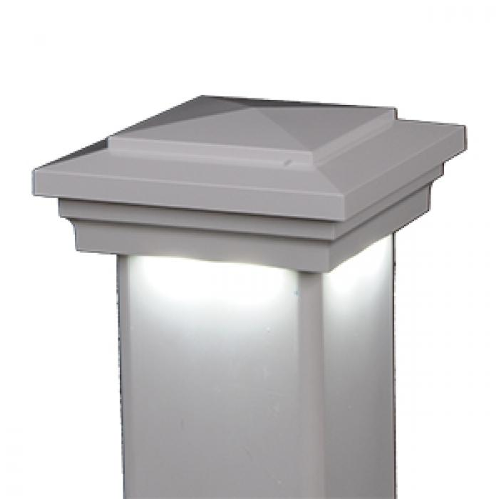 Cape May Downward Low Voltage Post Cap White