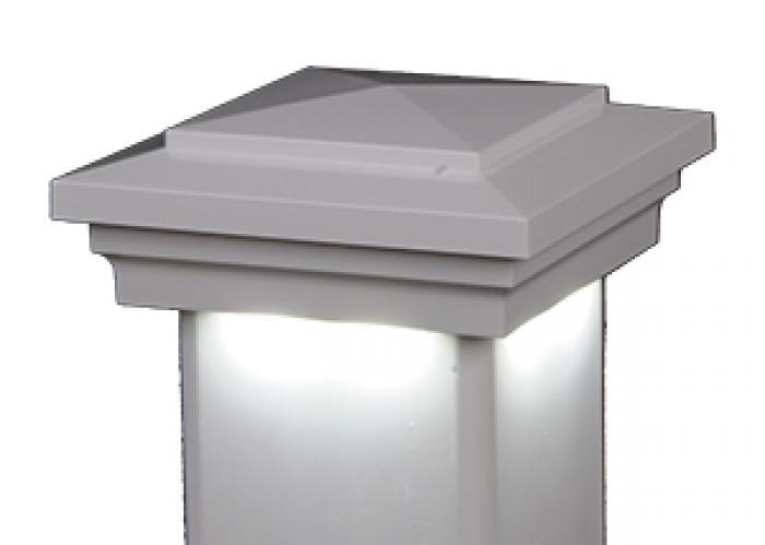 Post Cap Downward Low Voltage Post Cap White