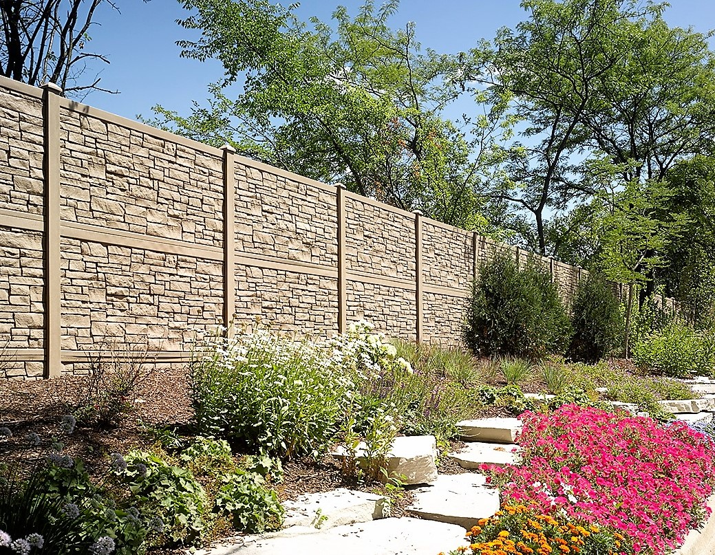 Brown Granite Eco Stone - Simulated Stone Fence