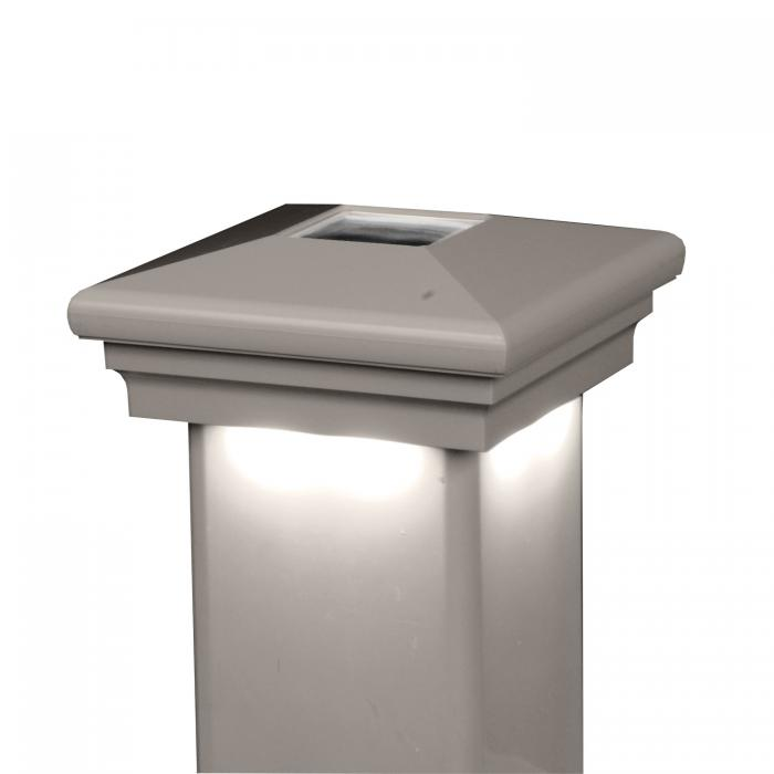 Neptune Solar Downward Light Post Cap Tan