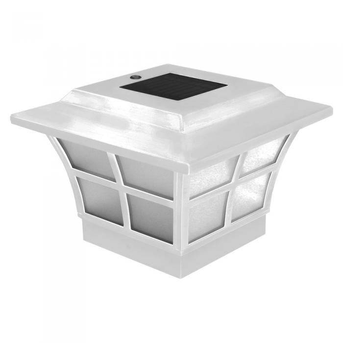 Ambiance White Solar Post Cap