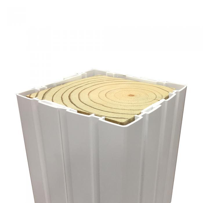 fluted vinyl post wrap 6 x 6