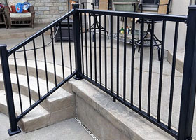 Black Aluminum Railing Factory Direct