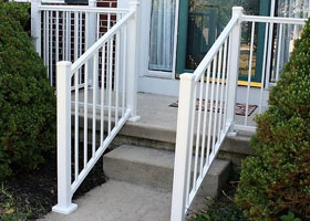 Minnesota Black Aluminum Chicago Railing