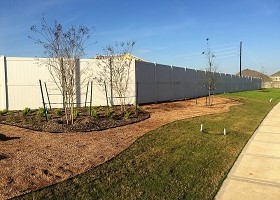 extra tall white privacy fence