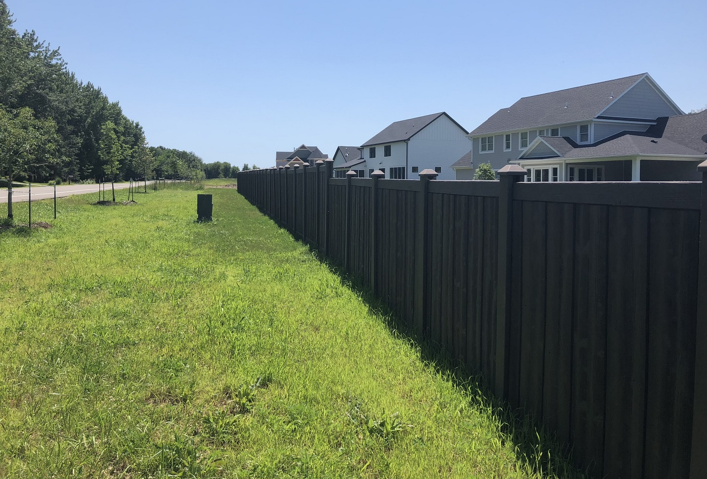 Walnut Brown Privacy Fencing