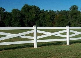 tan crossbuck fence