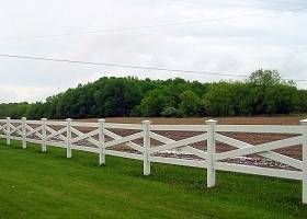 crossbuck farm fence