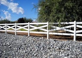 crossbuck vinyl fence
