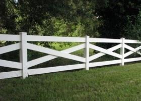 crossbuck livestock fence