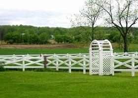 crossbuck farm fence