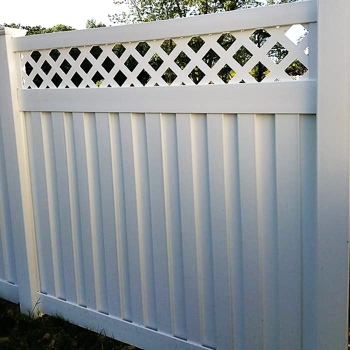 Florida privacy fence white