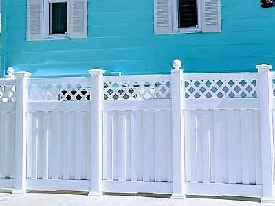 Heavy Duty Florida vinyl fence