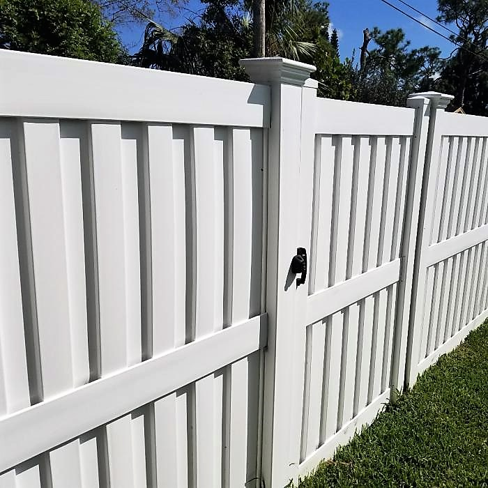 130 MPH Wind Cert Florida privacy fence